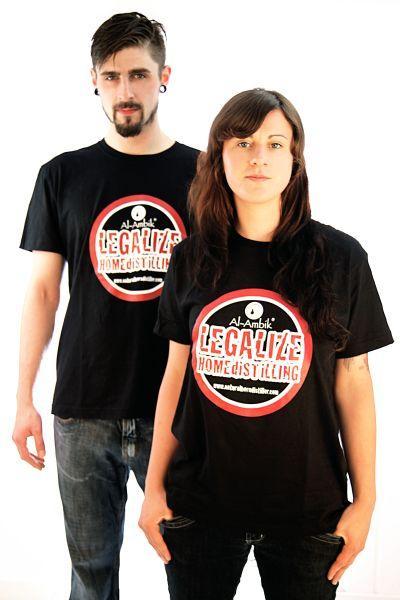Herren und Damen T-Shirts mit legalize home distilling motive zum destillieren