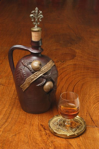 self-made cognac or brandy