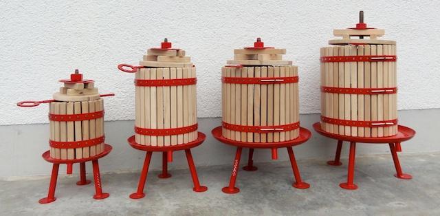 Pressoirs à vin / Pressoirs à fruits robustes disponibles chez Destillatio