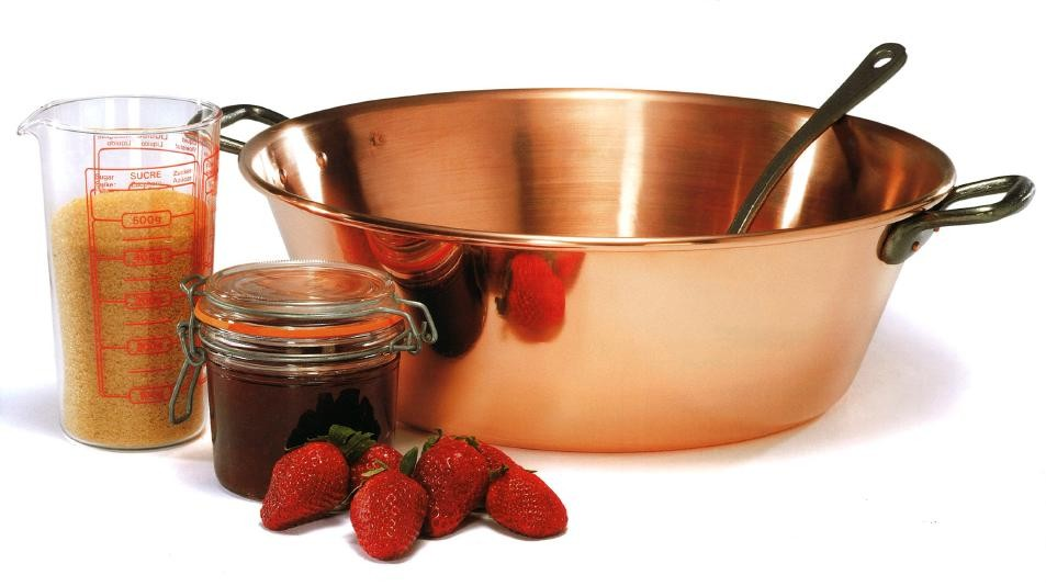 """Baumalu"" Sauce & marmalade pot / saucepan (36 cm) made of heavy copper"
