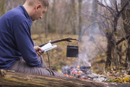Bücher zum kochen am Lagerfeuer