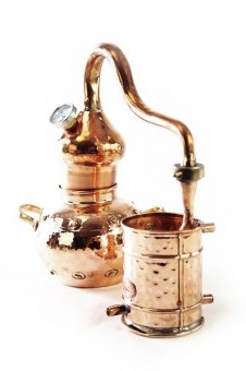 """CopperGarden®"" still Alembic 1L & thermometer"