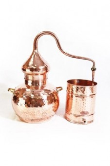 """CopperGarden®"" still alembic 20 L, riveted with thermometer"