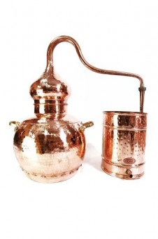 """CopperGarden®"" Destille Alembik 30L, genietet & Thermometer"