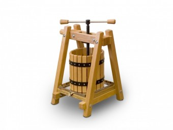 Fruit and wine press - 10 litres, made of beech