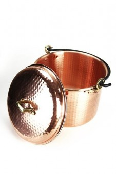"""CopperGarden®"" copper pot 8 liters hammered with handle"