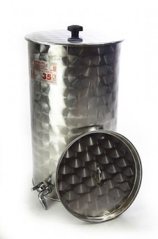 """Ferrari"" stainless steel storage cask 35 liters with floating lid"