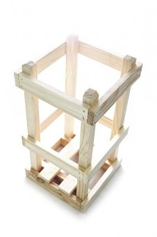 Wood Crate for Demijohn / glass carboy 10 liters