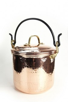 """CopperGarden®"" copper pot tin-plated, 5 liters with handle"