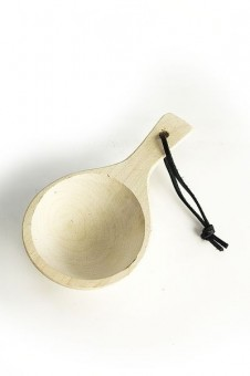 Wooden Ladle with leather strap