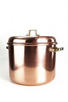 """CopperGarden"" copper pot (18 L) smooth with handles & cover"