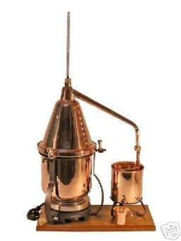 """CopperGarden®"" Italia 2.5L electric distillation apparatus with aroma basket"