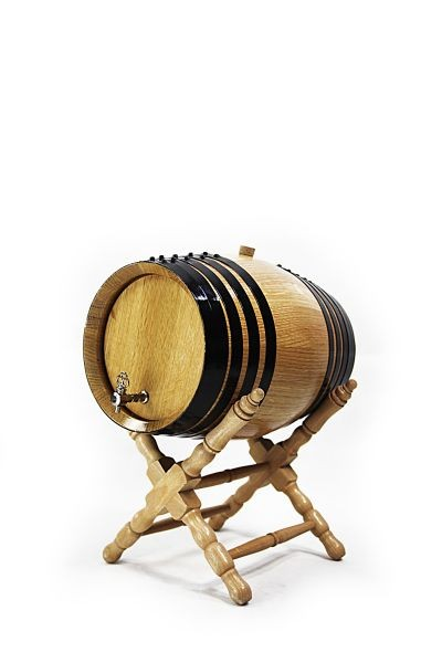 2 L Barrel with Stand, white oak, toasted