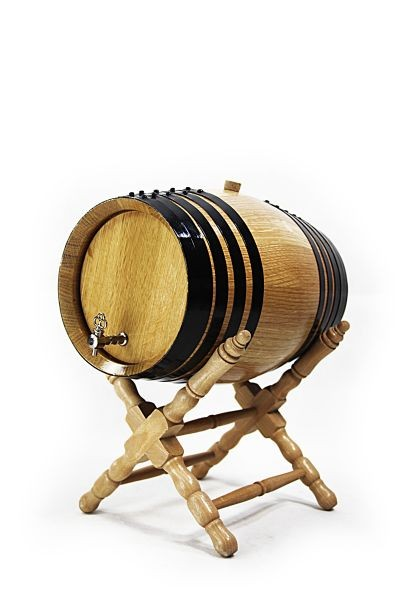8 L American Oak Barrel with Stand, white oak, toasted