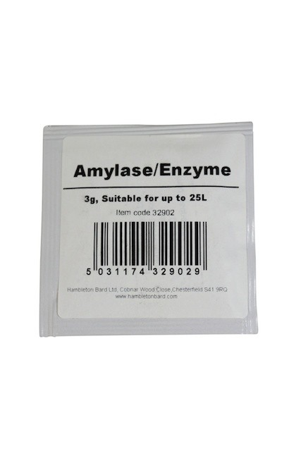 Amylase Enzyme, 3 g converts starches into fermentable sugar!