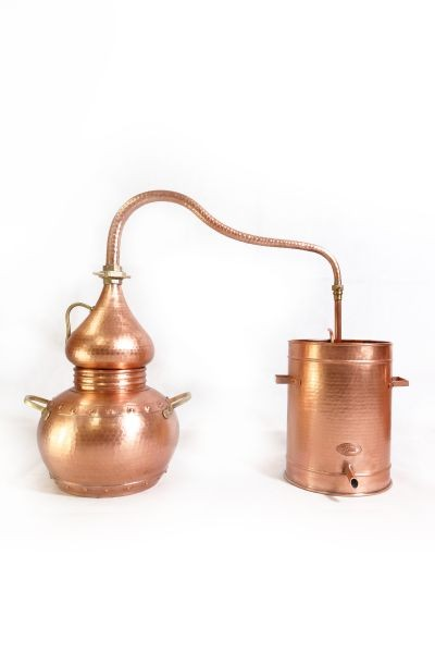 CopperGarden®  alembic still lifetime 10L & thermometer