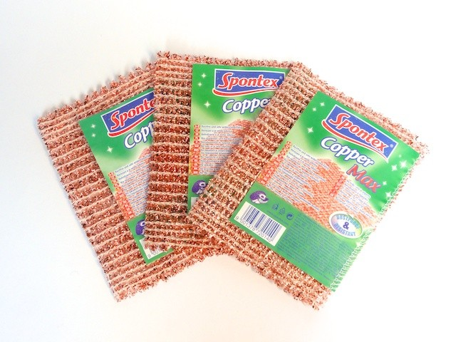SPONTEX  3 x Copper Max copper cloth