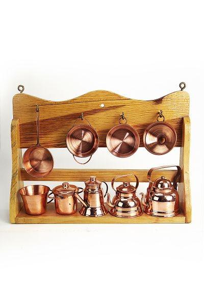 Coppergarden tag re de cuisine miniature avec - Ustensiles de cuisine en cuivre ...