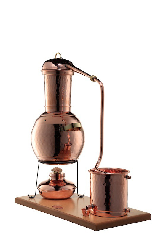 Arabia 2L Alembic still, with burner and steam sieve -  CopperGarden®