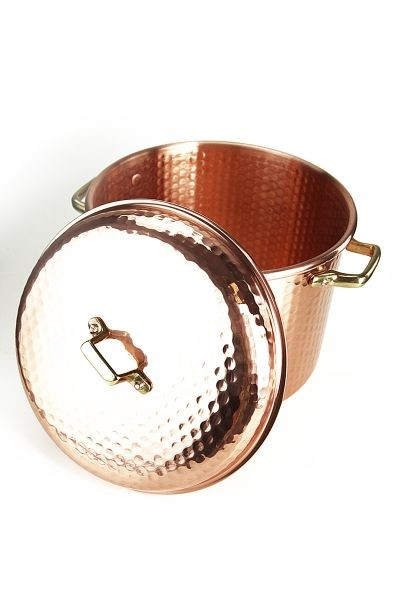 CopperGarden  copper pot 8L, 24 cm, hammered with handles