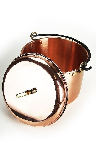 "CopperGarden®"" copper pot 8L, smooth with handle"