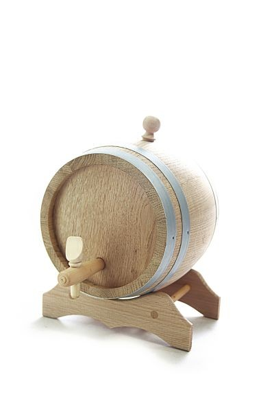 2 L Barrel with wooden stand, European oak wood