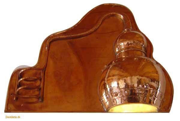 coppergarden wandlampe aus kupfer oxidiert. Black Bedroom Furniture Sets. Home Design Ideas