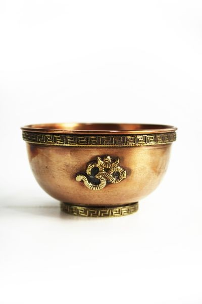 Incense Bowl with Om symbol, copper