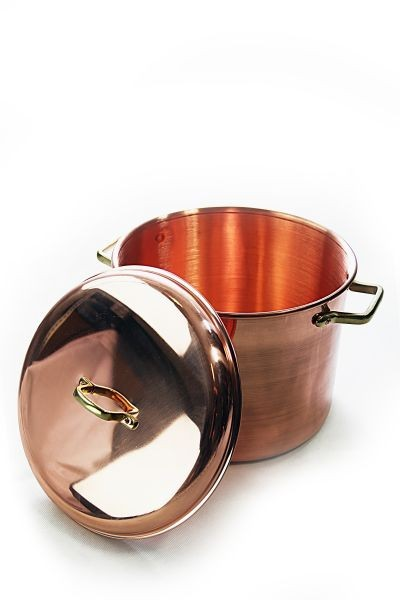 CopperGarden  copper pot (12 L) with handles & cover