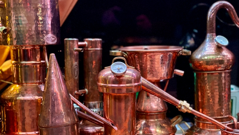 Hobby-sized copper stills
